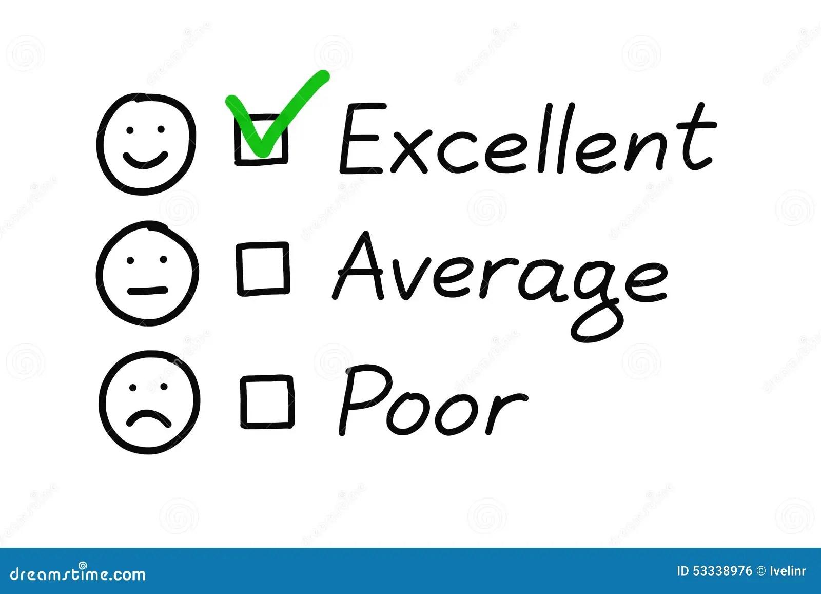 Excellent Customer Survey Stock Illustration Illustration