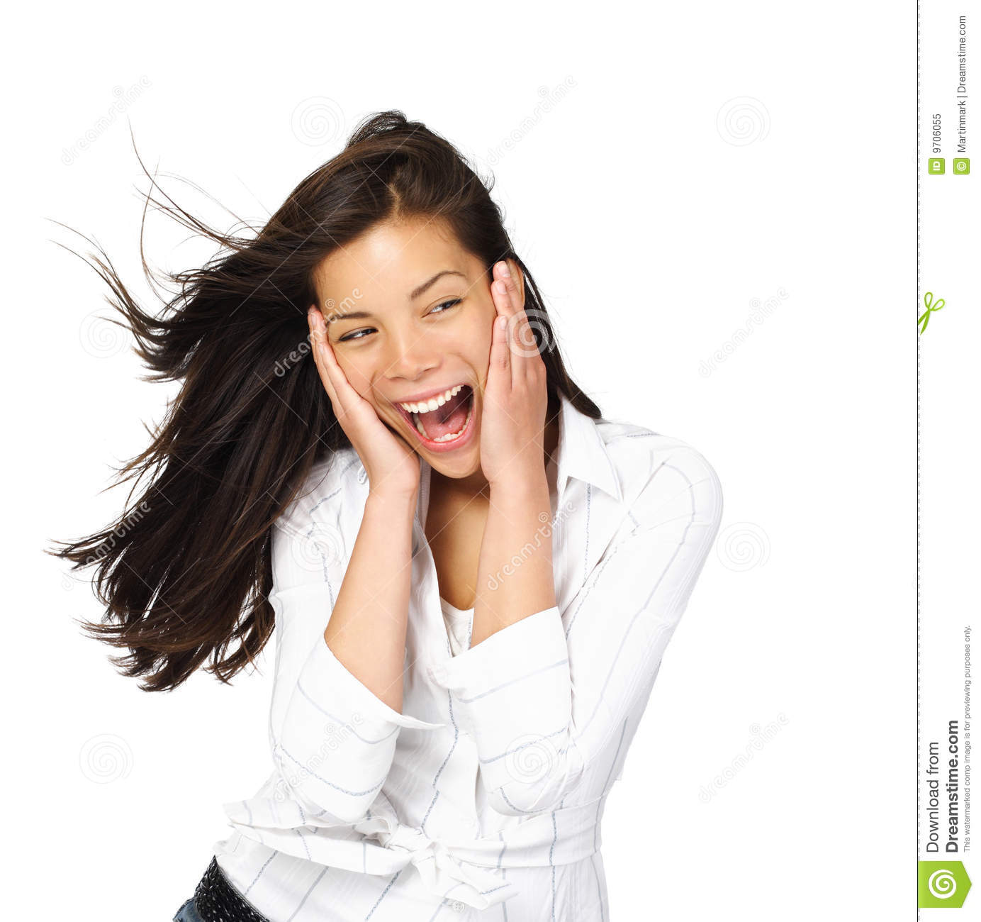 Excited Woman Royalty Free Stock Photo  Image 9706055