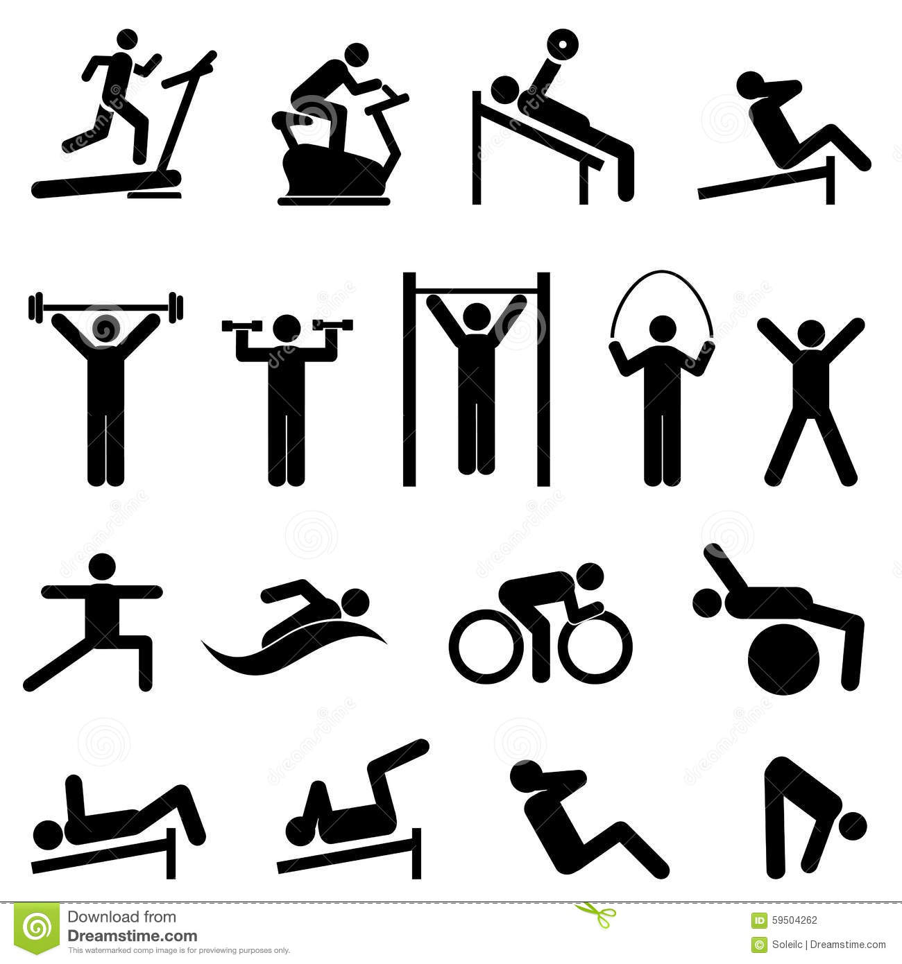 Exercicio Aptidao Saude E Icones Do Gym Ilustracao Do