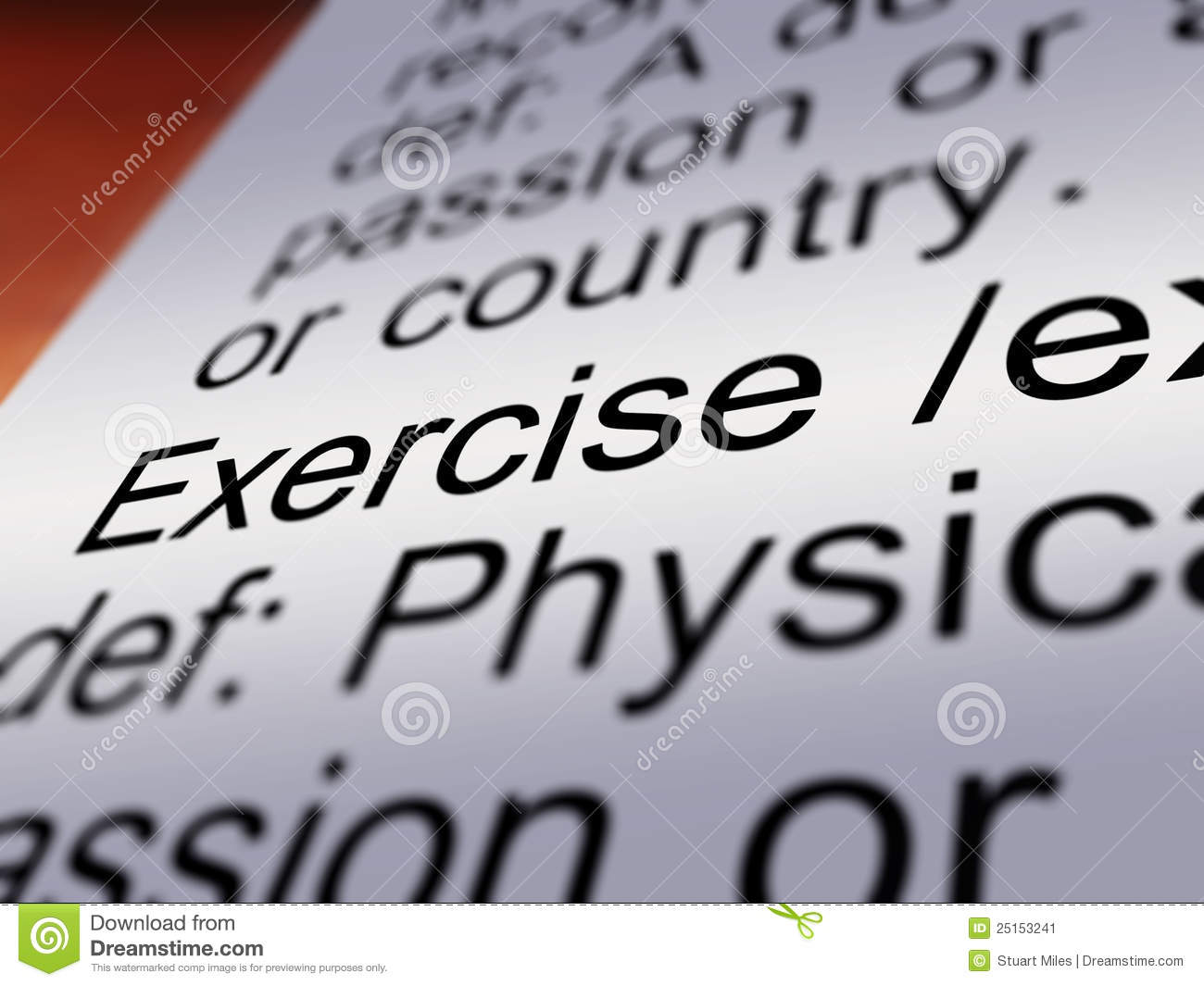 exercise definition closeup showing fitness activity 25153241