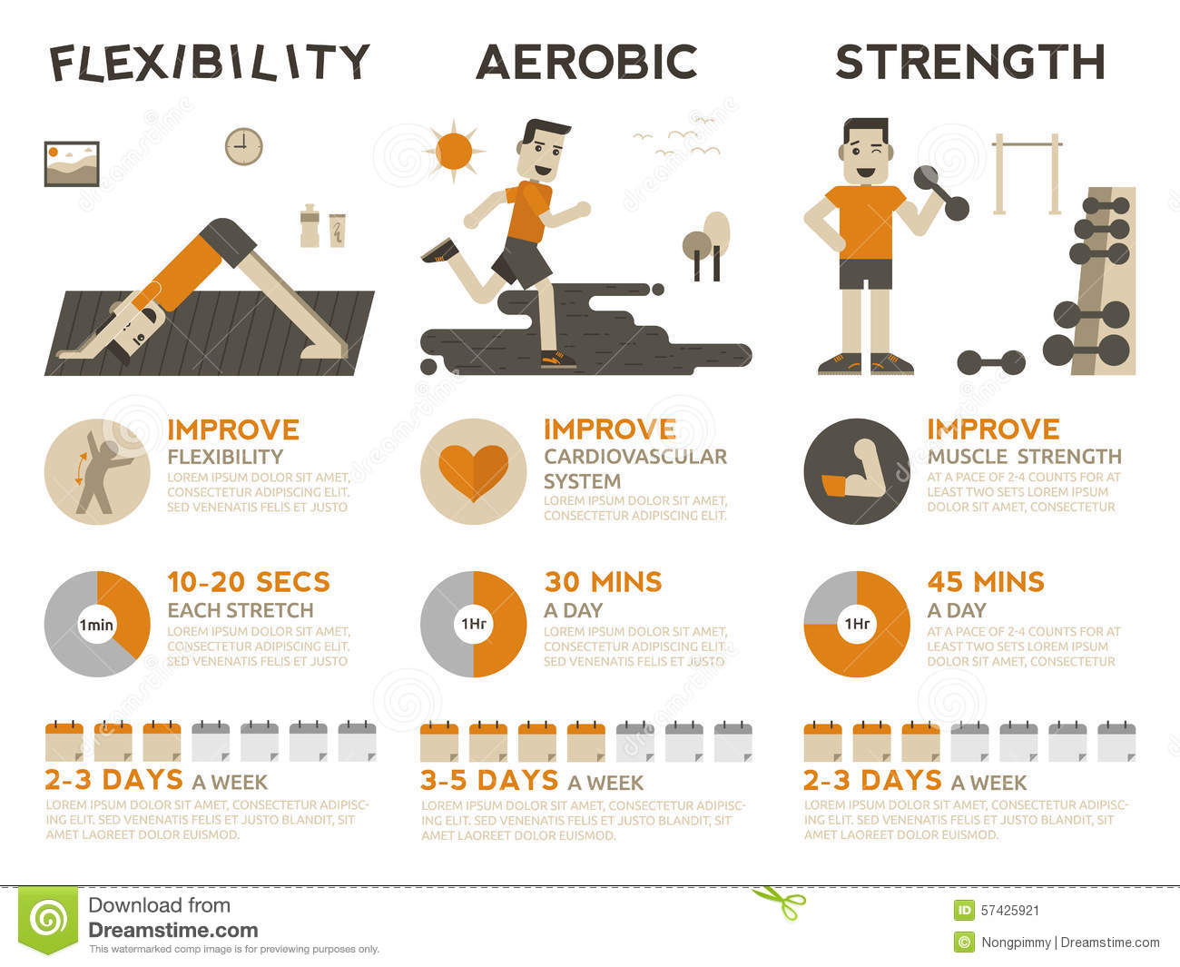 Exercise Infographic Stock Vector