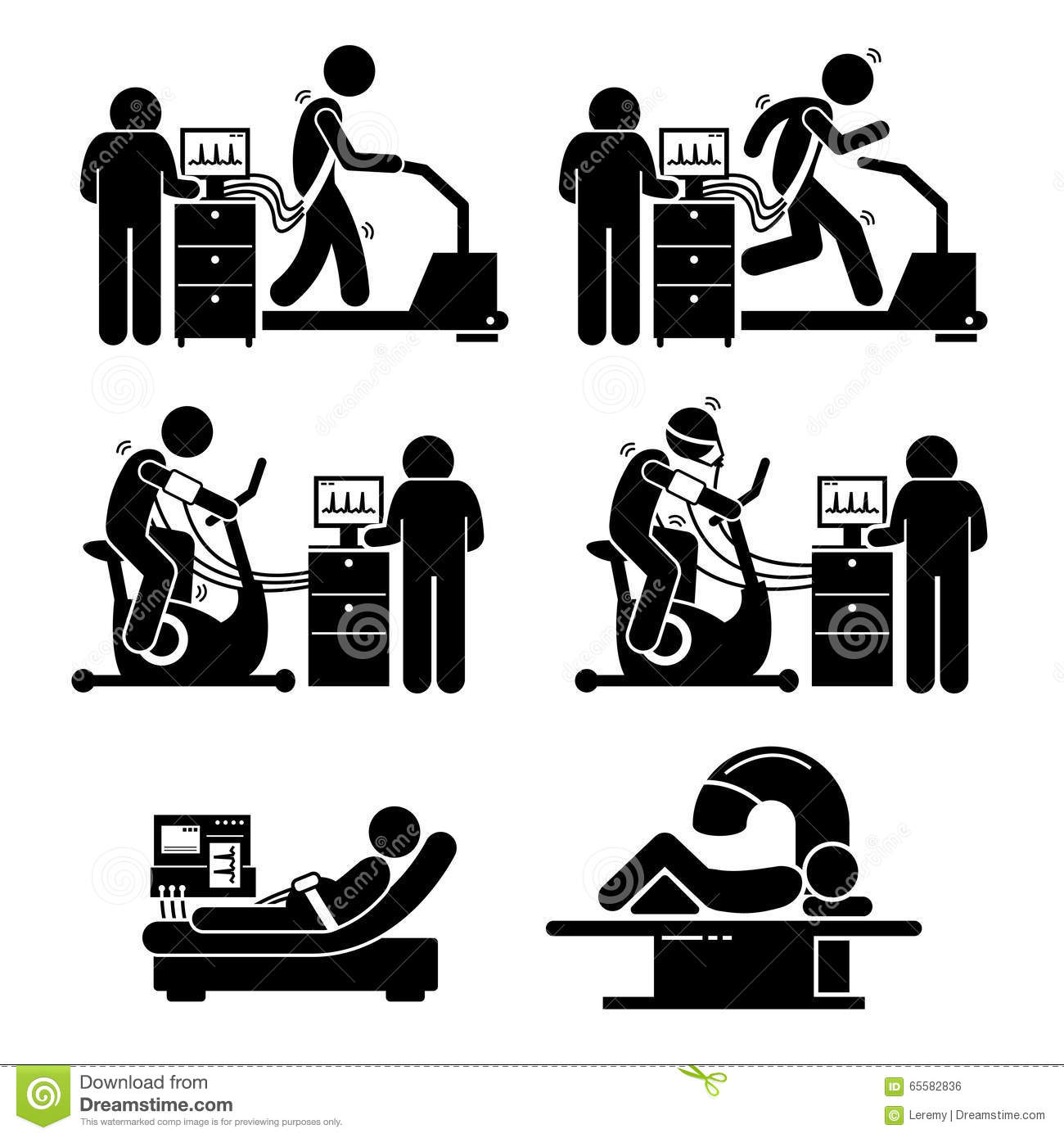 Exercise Stress Test For Heart Disease Clipart Stock
