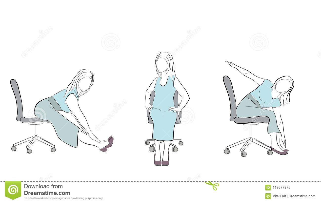 office chair exercises captain chairs for dining room table in the on a relaxation vector