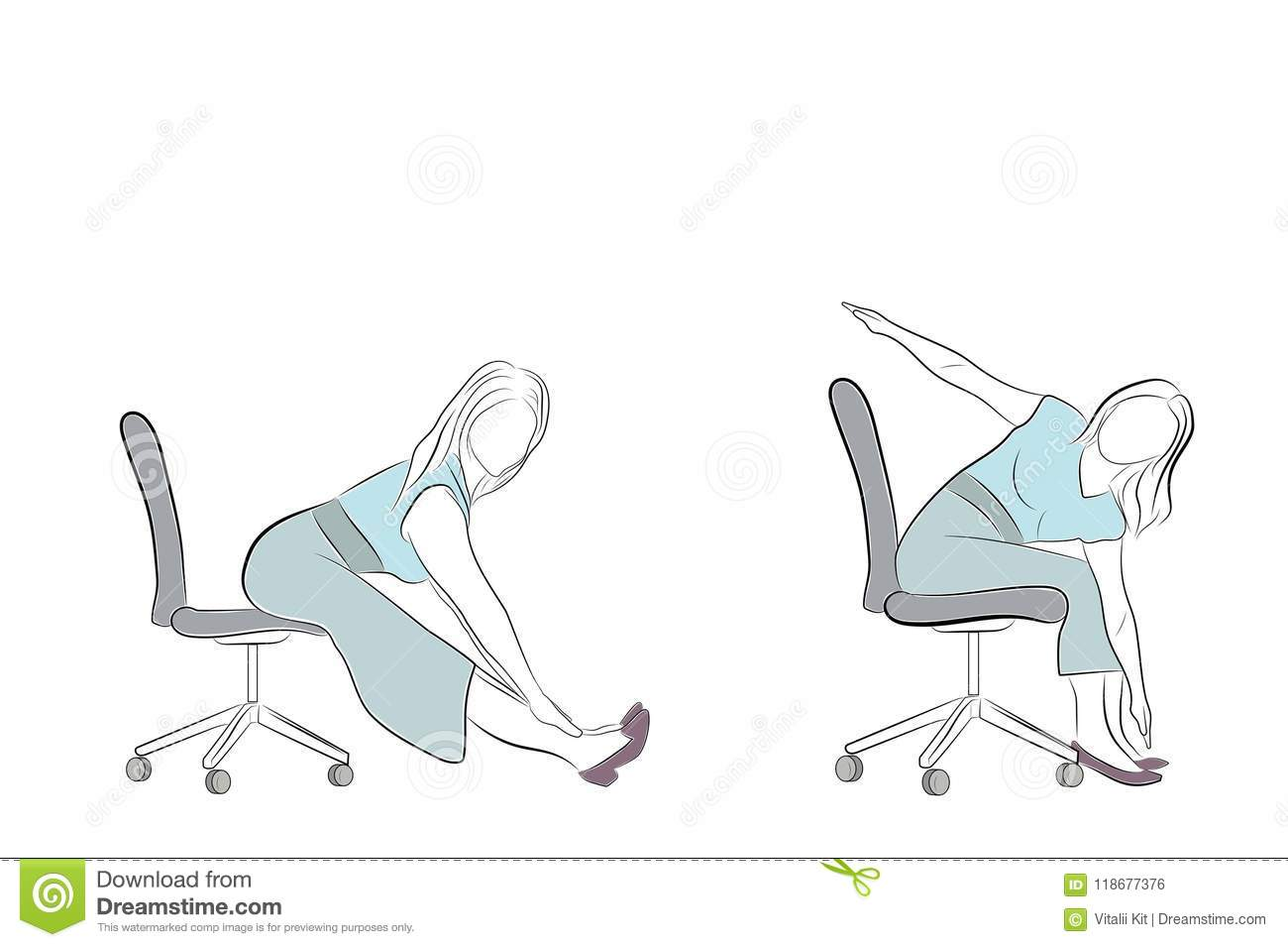 office chair exercises used folding tables and chairs for sale in the on a relaxation vector