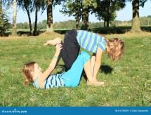 Exercising Girls Stock Of Meadow Girl Foot