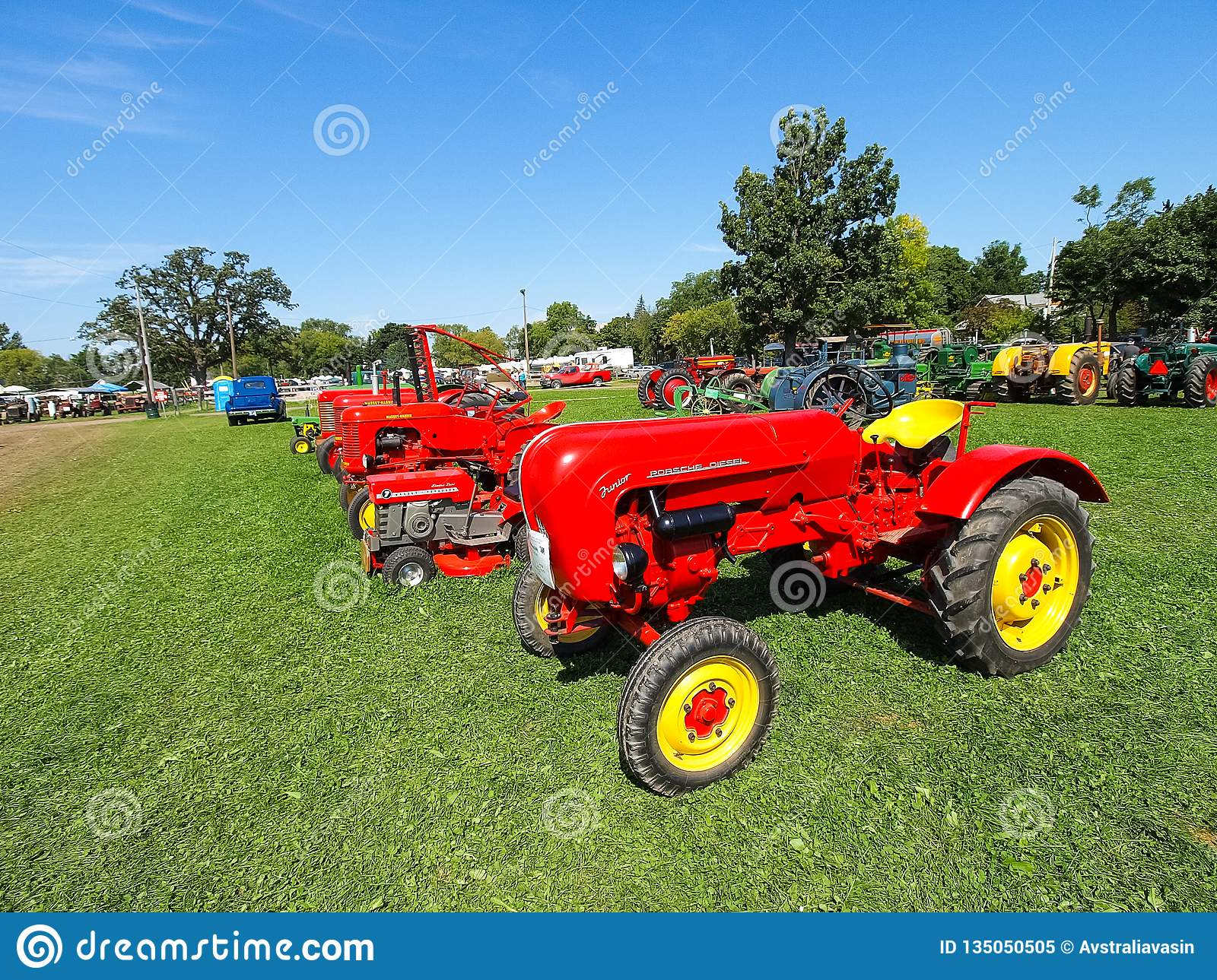 A tractor is often a large investment. Exhibition Of Antique Tractors Tractor Show Agreecultural Mach Editorial Image Image Of Fair Industry 135050505