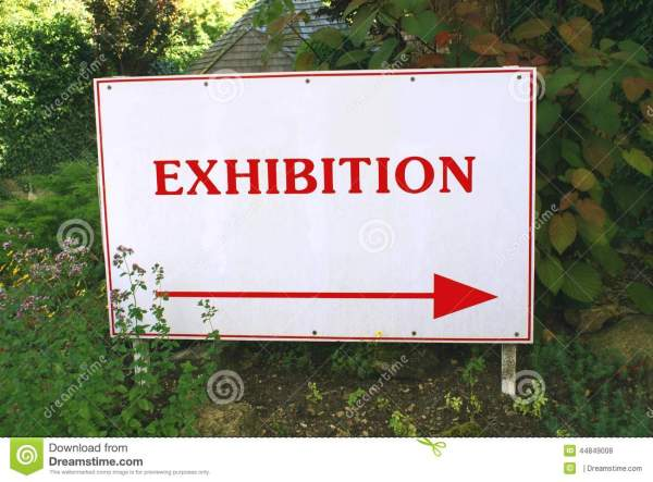 Exhibition Sign Stock - 44849008