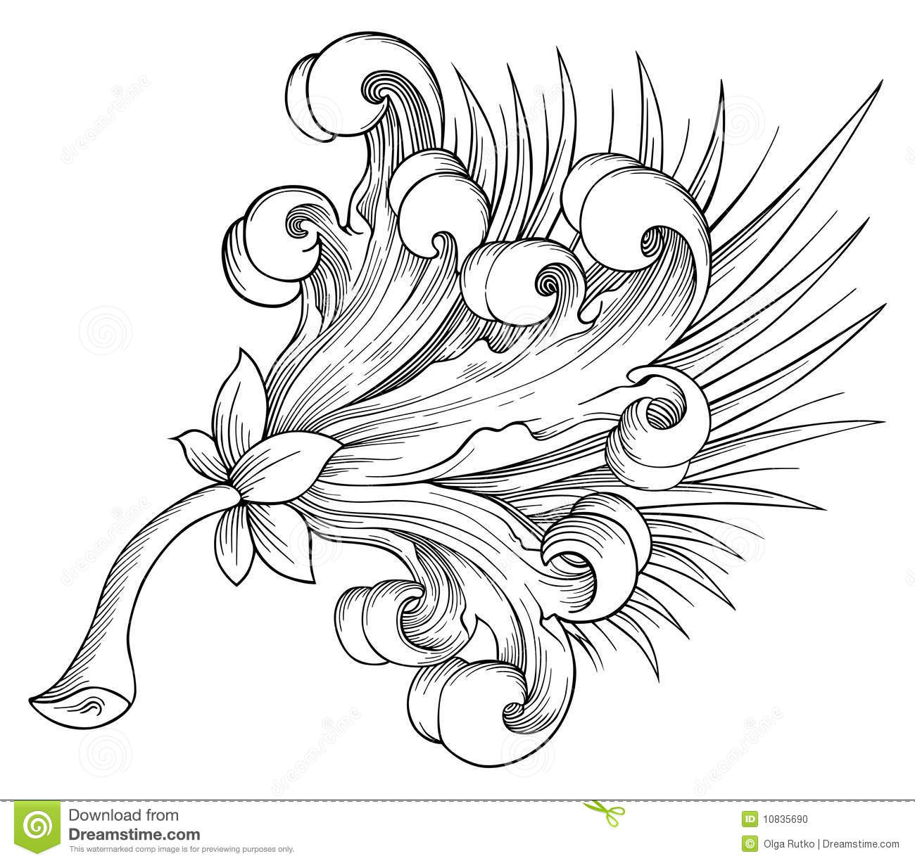 Exotic Flower Vector Stock Vector Illustration Of Bouquet