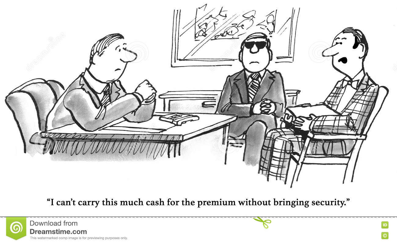 Expensive Health Insurance stock illustration. Image of