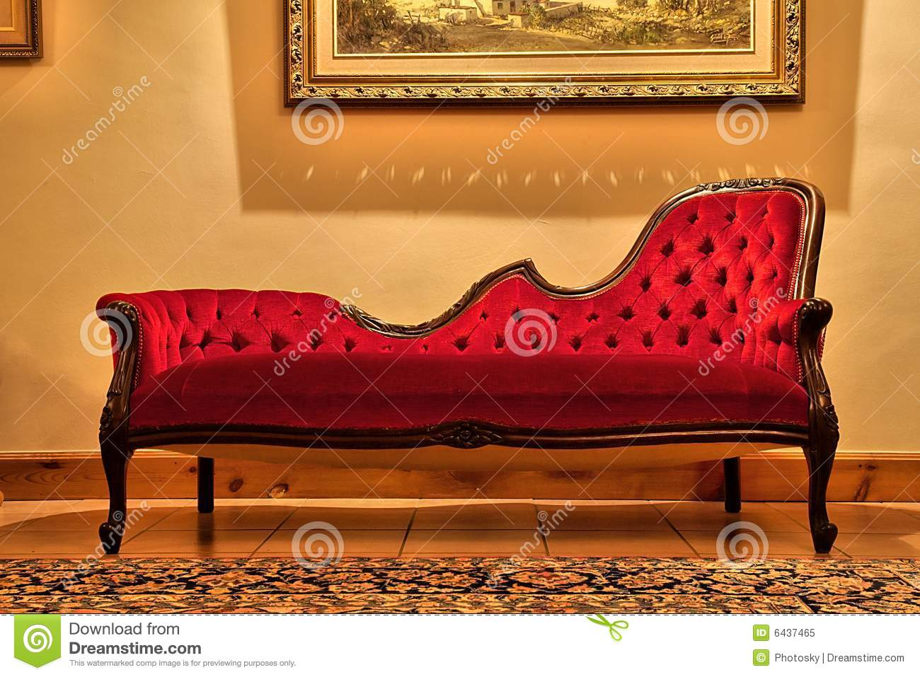 red sofa cafe baku serta bed canada expensive under painting royalty free stock photo