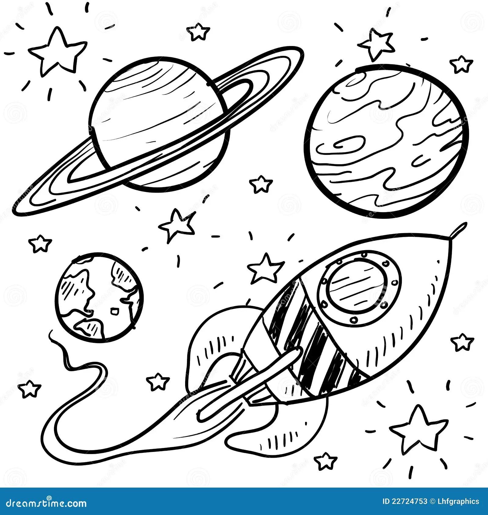 Exploracion De Espacio O Bosquejo De Los Objetos De La