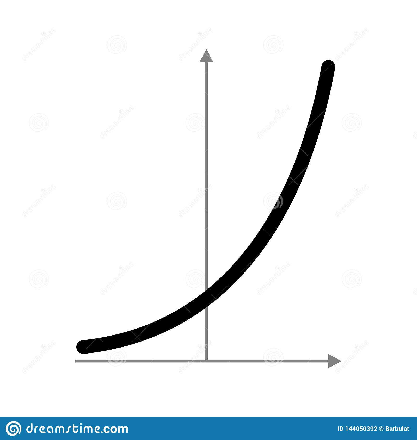 Exponential Function Graph Stock Vector Illustration Of