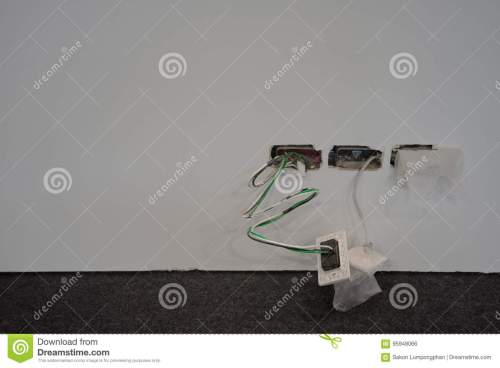small resolution of exposed wire in the electrical wiring in the wall