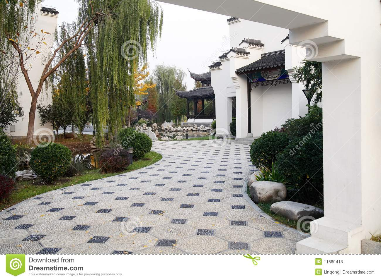 Exquisite Chinese Courtyard Royalty Free Stock Photos Image 11680418