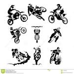 Extreme Motorbike Vector Set Stock Vector Illustration Of Sport Skill 113532042