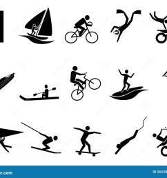 extreme sports icon set [ 1300 x 1065 Pixel ]