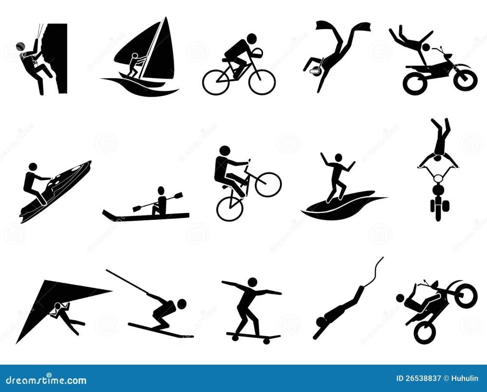 medium resolution of extreme sports icon set