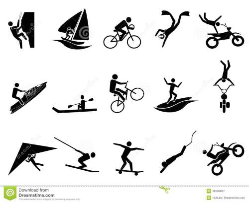 small resolution of extreme sports icon set