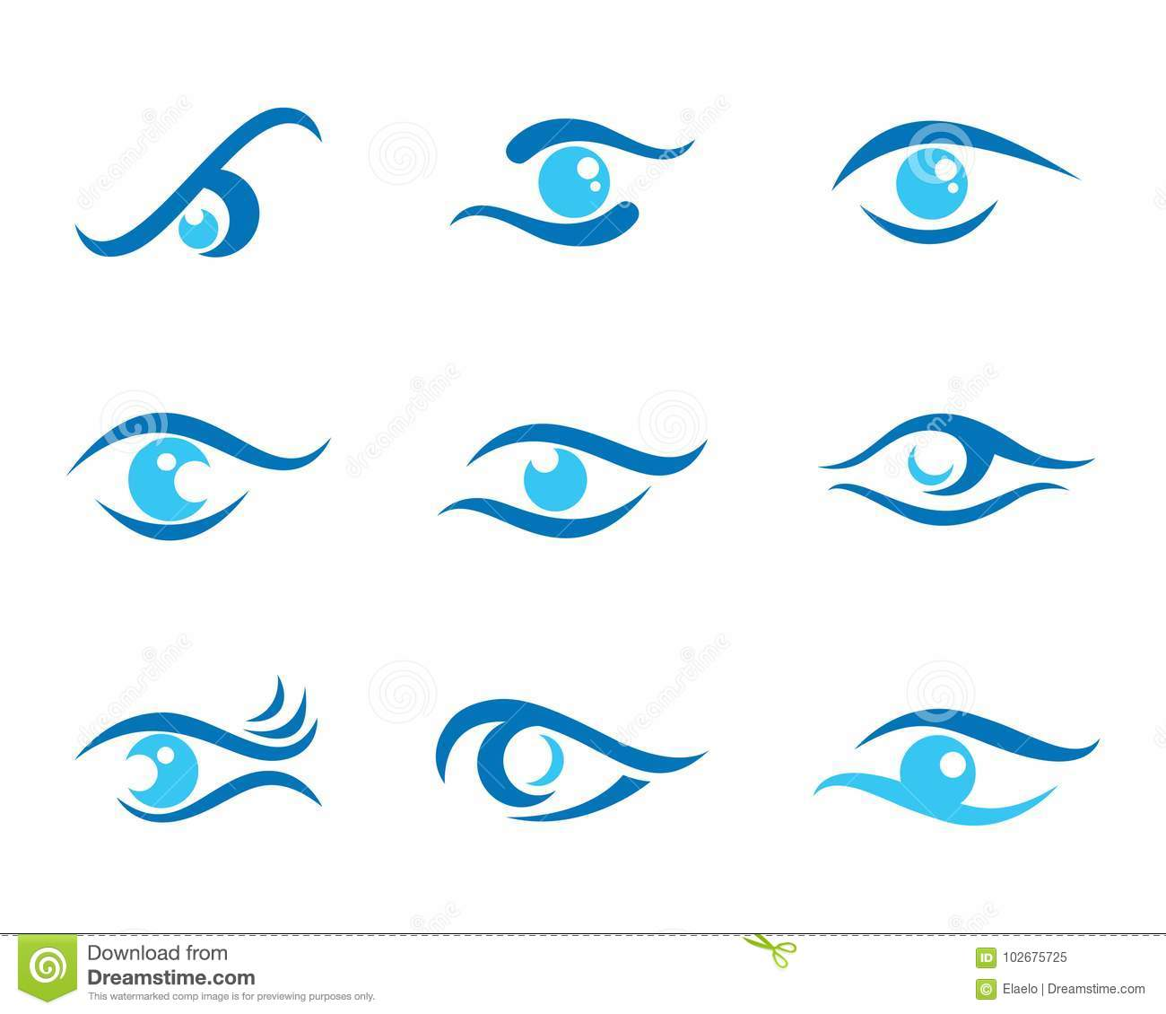 hight resolution of eye care logo template