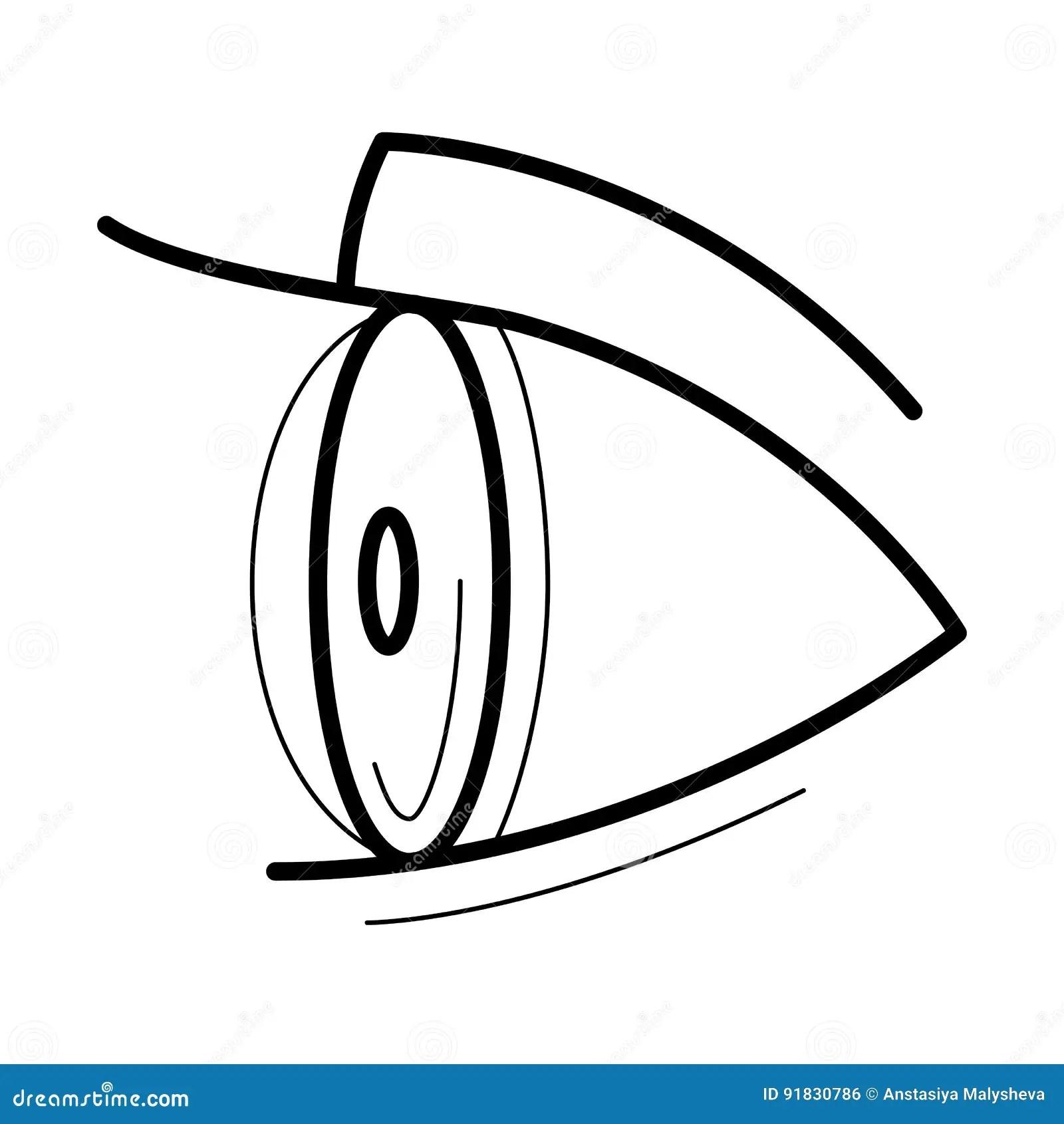 Eye With Contact Lens Icon Stock Vector