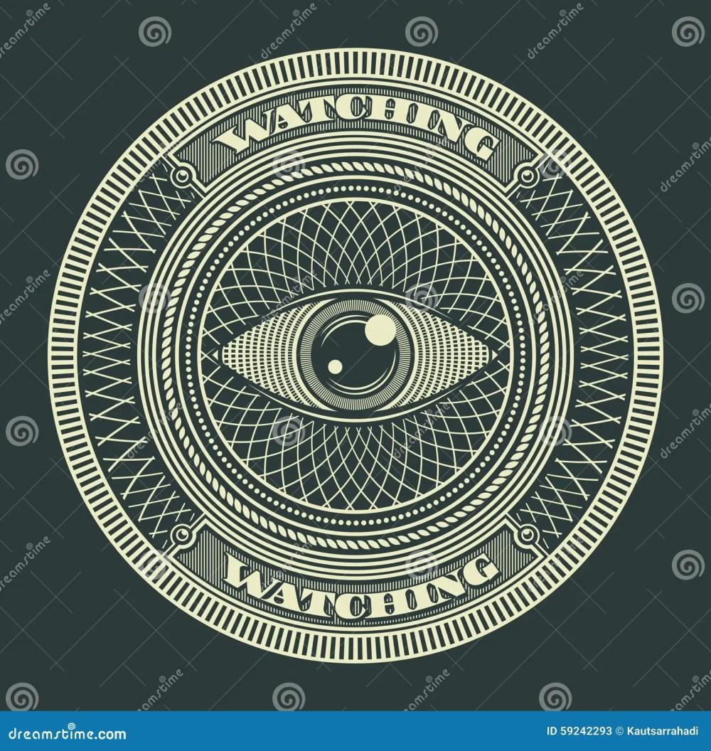 medium resolution of eye decorative circle sign symbol vector illustration
