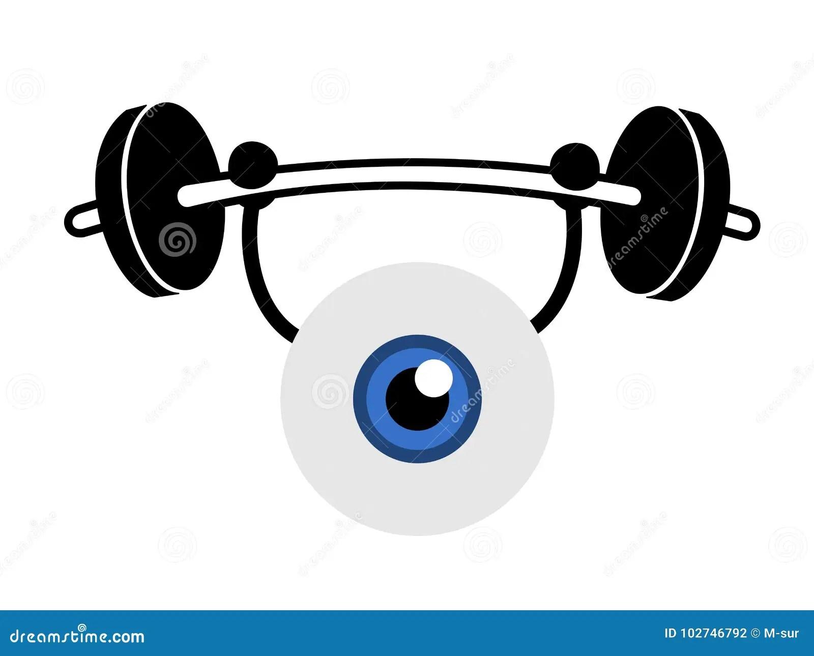 Eye Exercise Stock Vector Illustration Of Metaphor