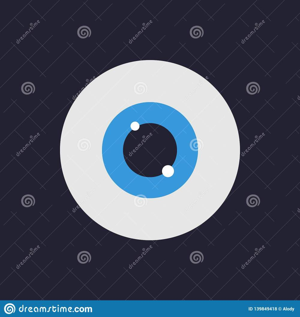 medium resolution of eye icon flat design style vector illustration for your deisgn