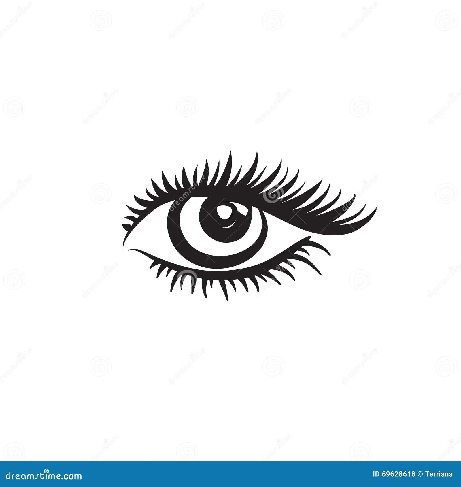 Eye Logo Label With Eye Beautiful Eye Cute Eye Stock