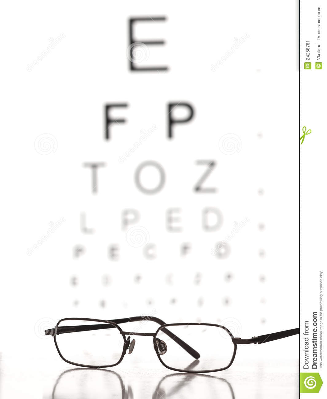 Eye test stock image. Image of ophthalmologic