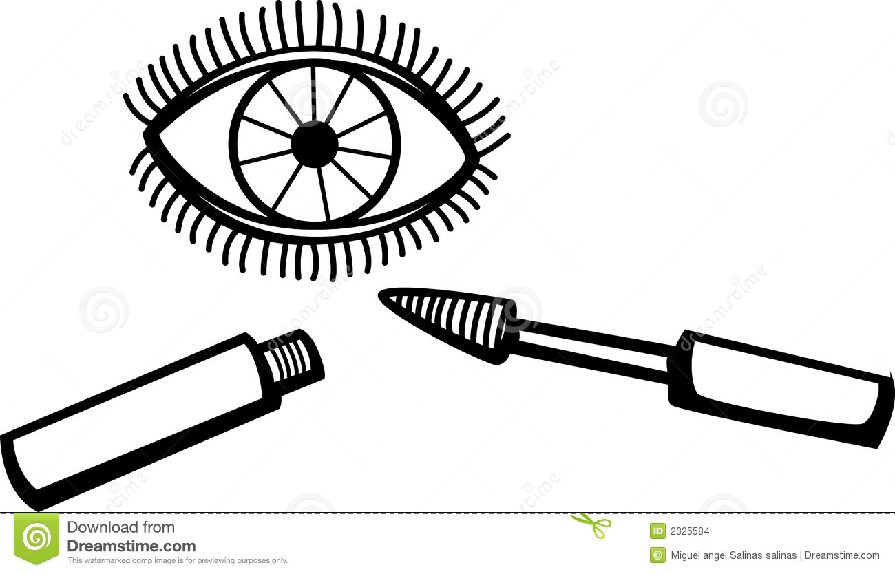 Eyelash Mascara Makeup Vector Illustration Stock Images