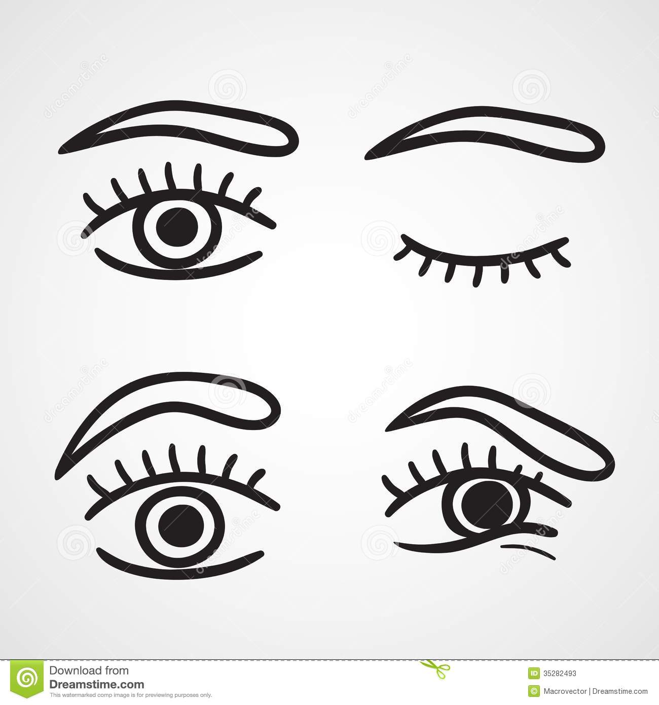 Eyes Icons Design Stock Vector Illustration Of Collection