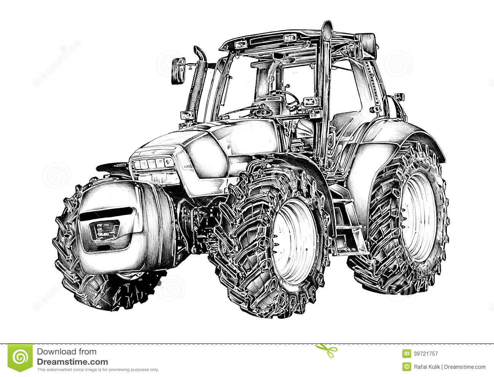 For Illustrationkonst For Jordbruks Traktor Teckning