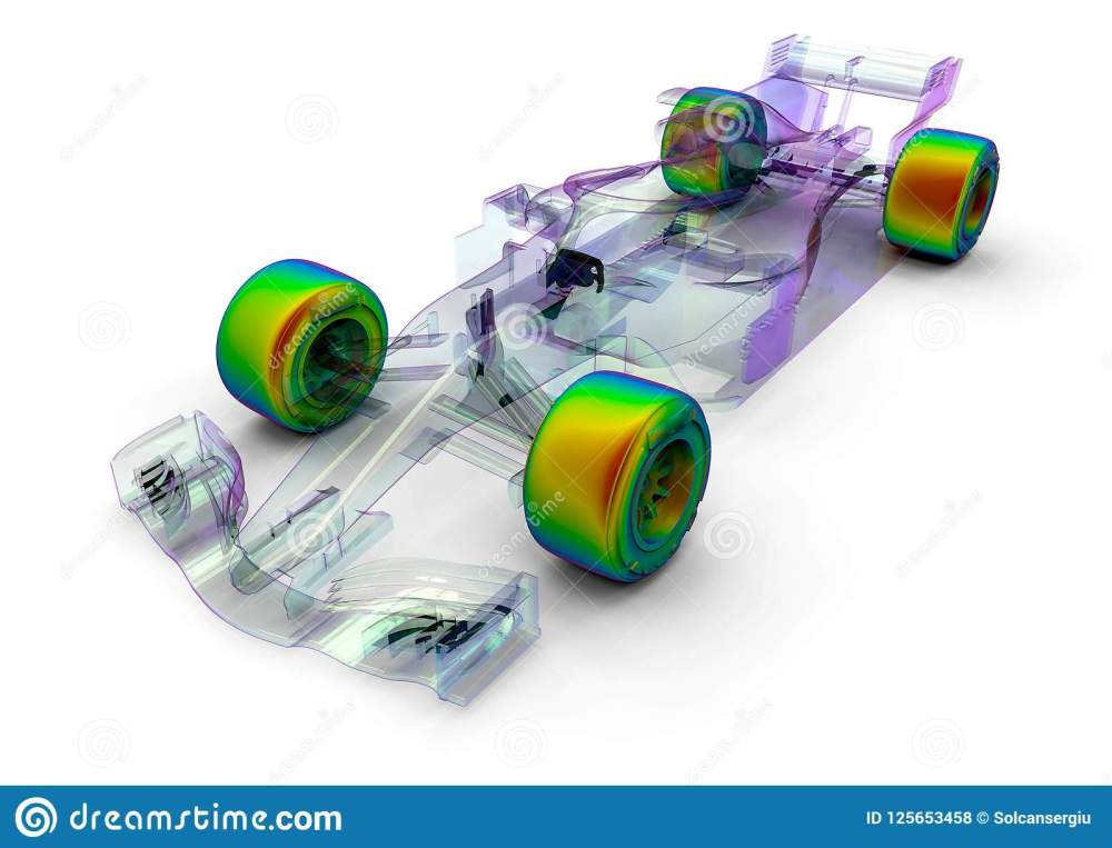 medium resolution of 3d render image representing an f1 car radiography