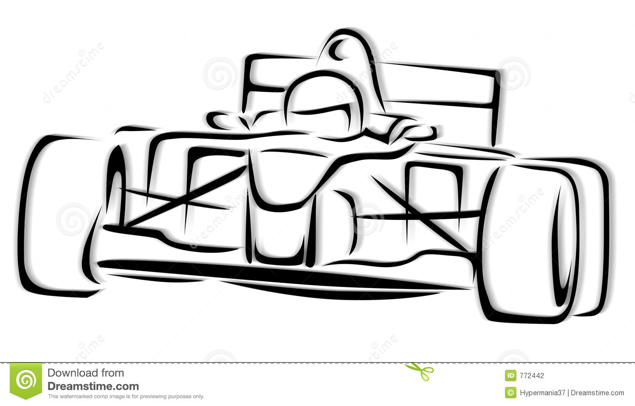 F1 De Illustratie Van De Raceauto Stock Illustratie