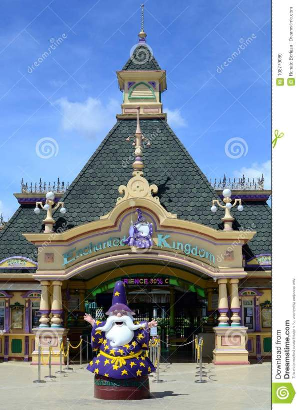 Facade Of Enchanted Kingdom Theme Park Local And