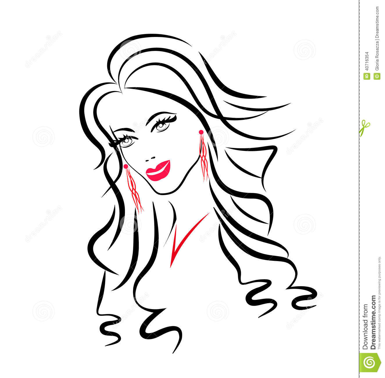 Face Of Beauty Woman Silhouette Stock Vector