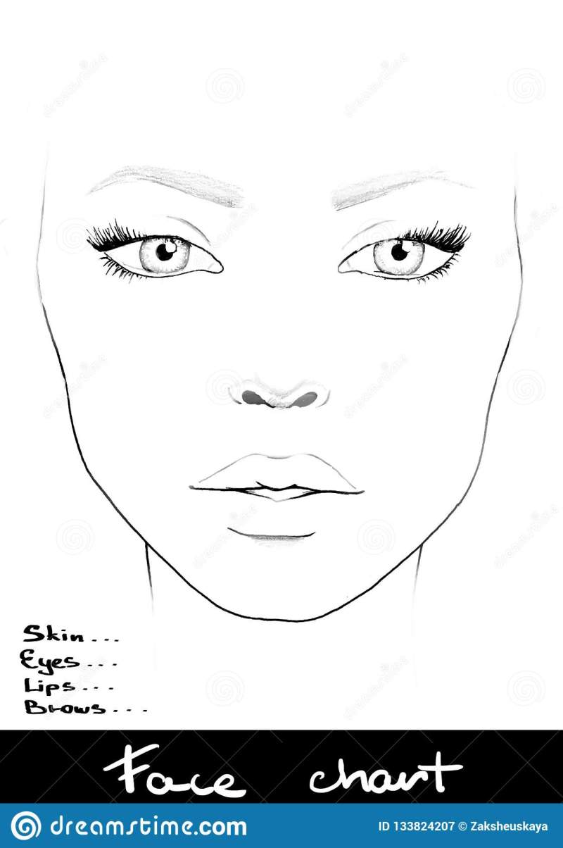 35 Latest Blank Makeup Drawing Face
