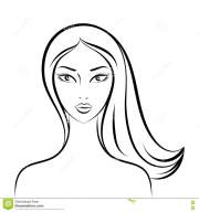 face glamorous girl cartoon stock