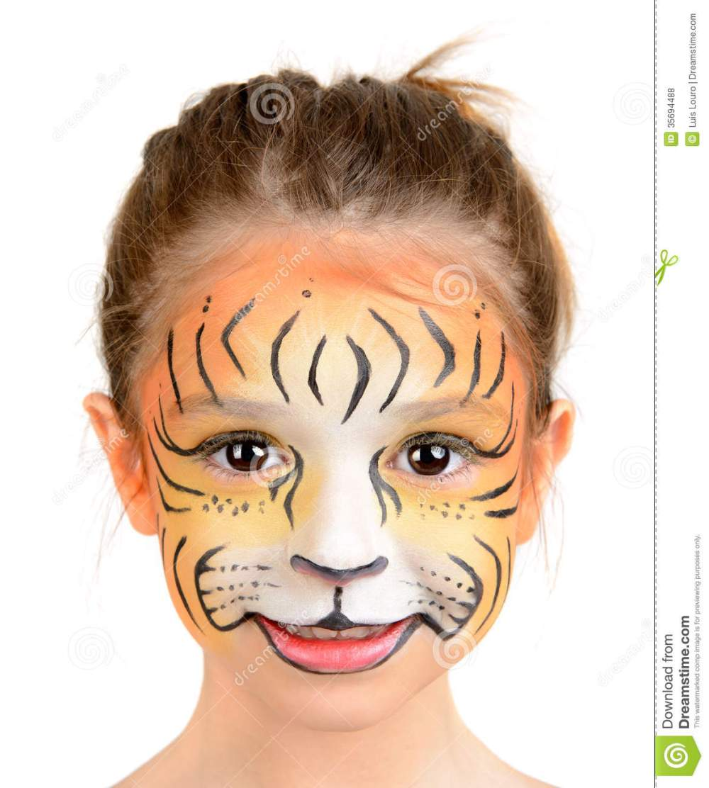 medium resolution of tiger face paint women photo 11