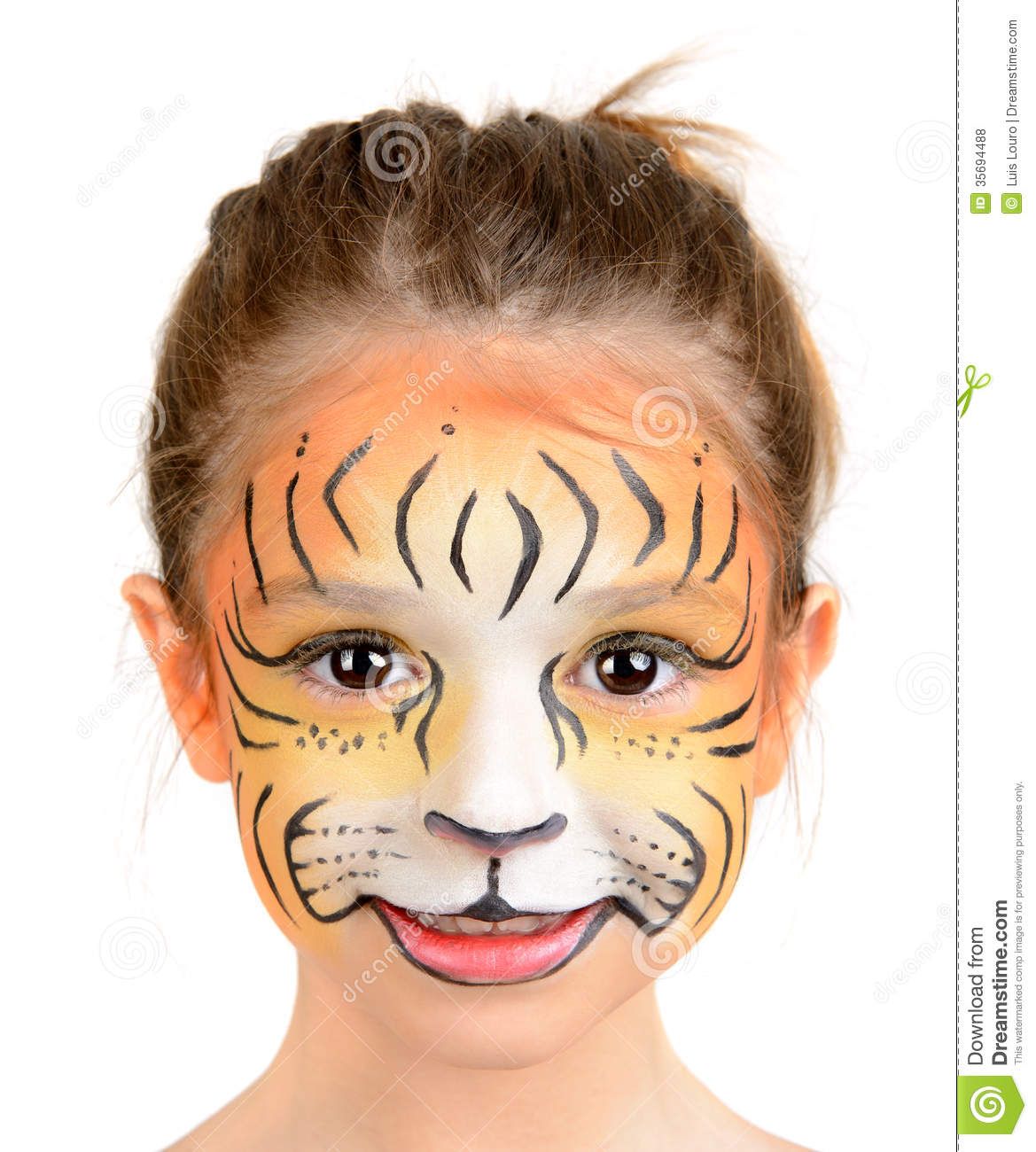 hight resolution of tiger face paint women photo 11