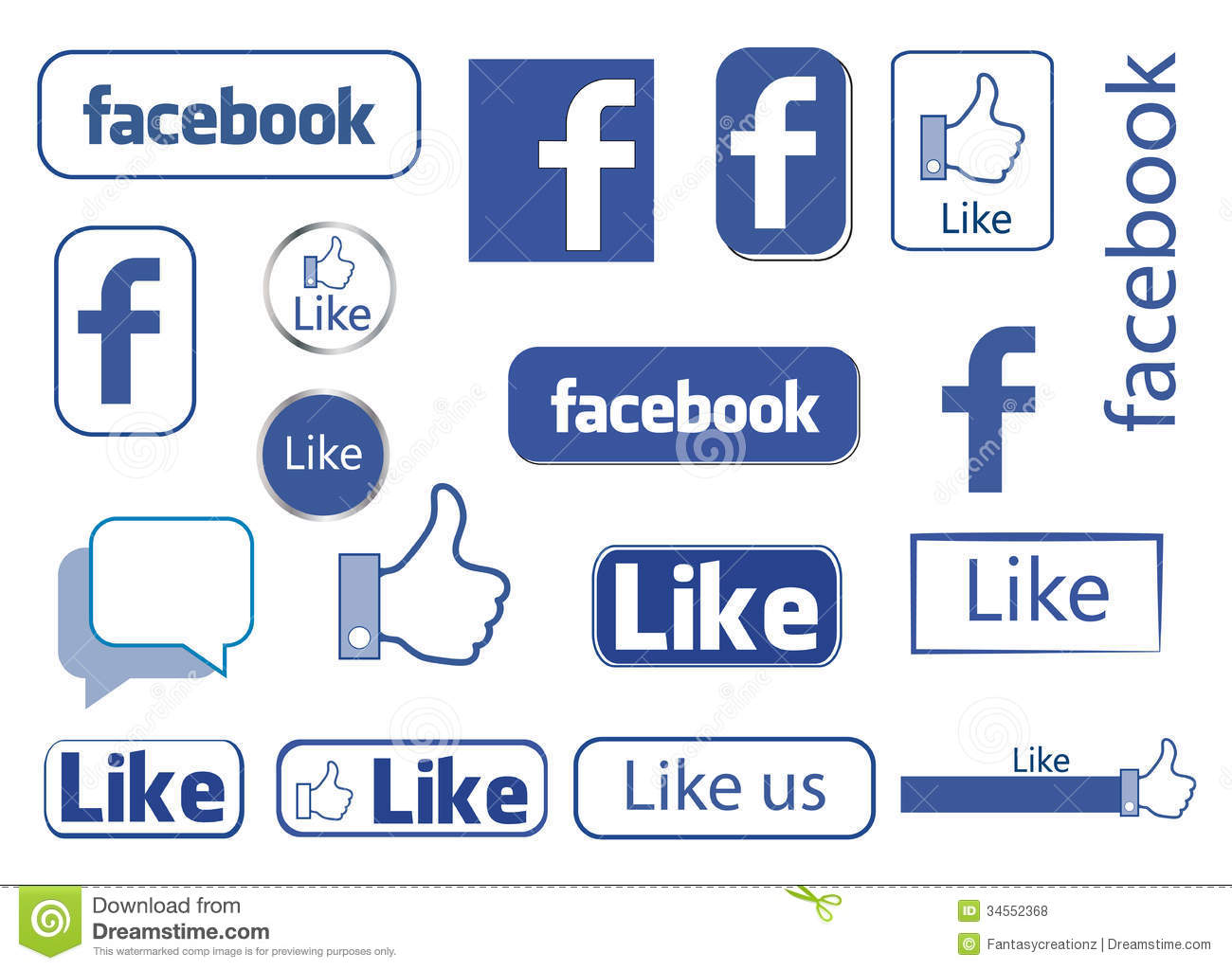 facebook like editorial stock