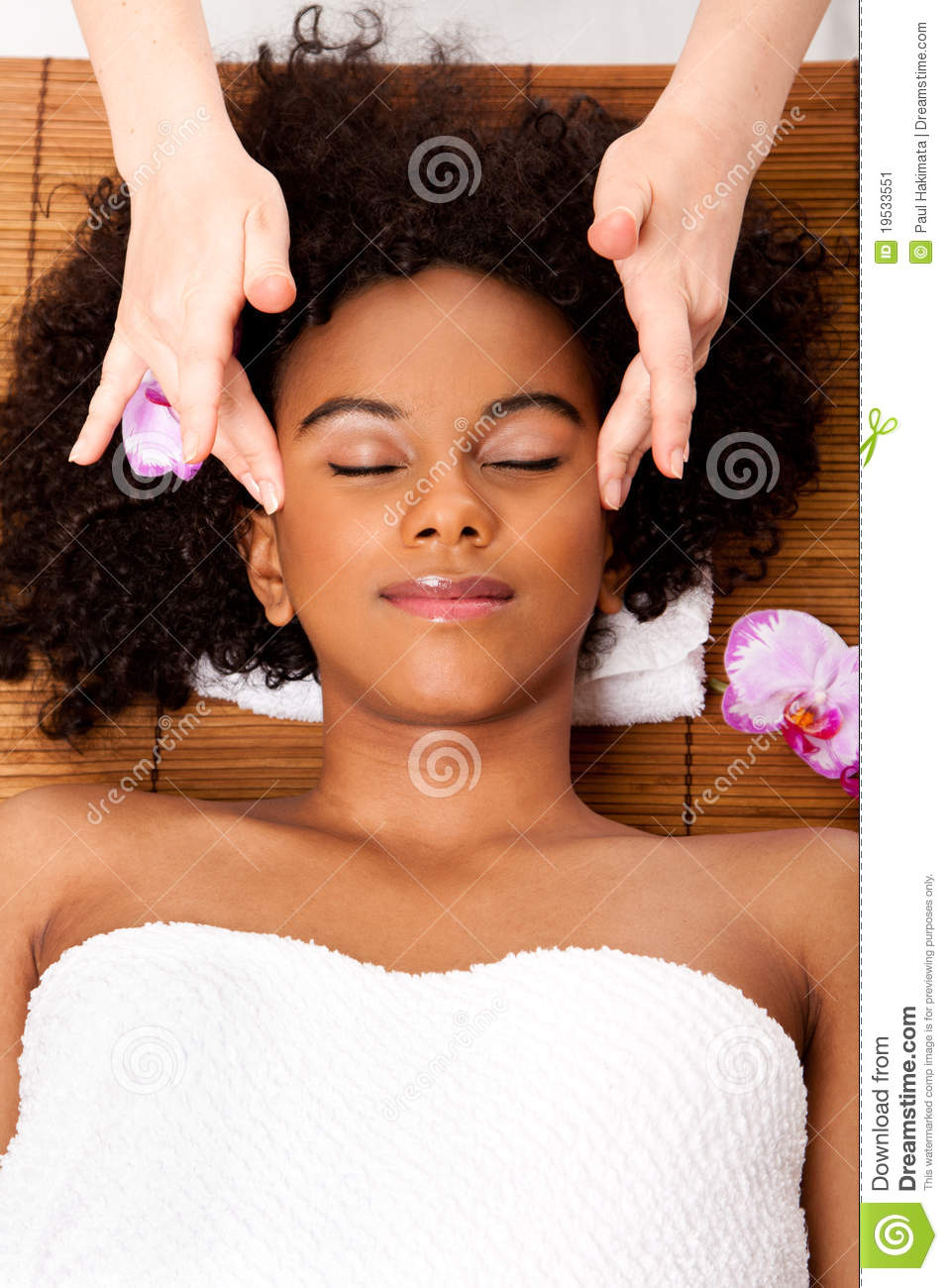 Facial Temple Massage In Beauty Spa Stock Image  Image