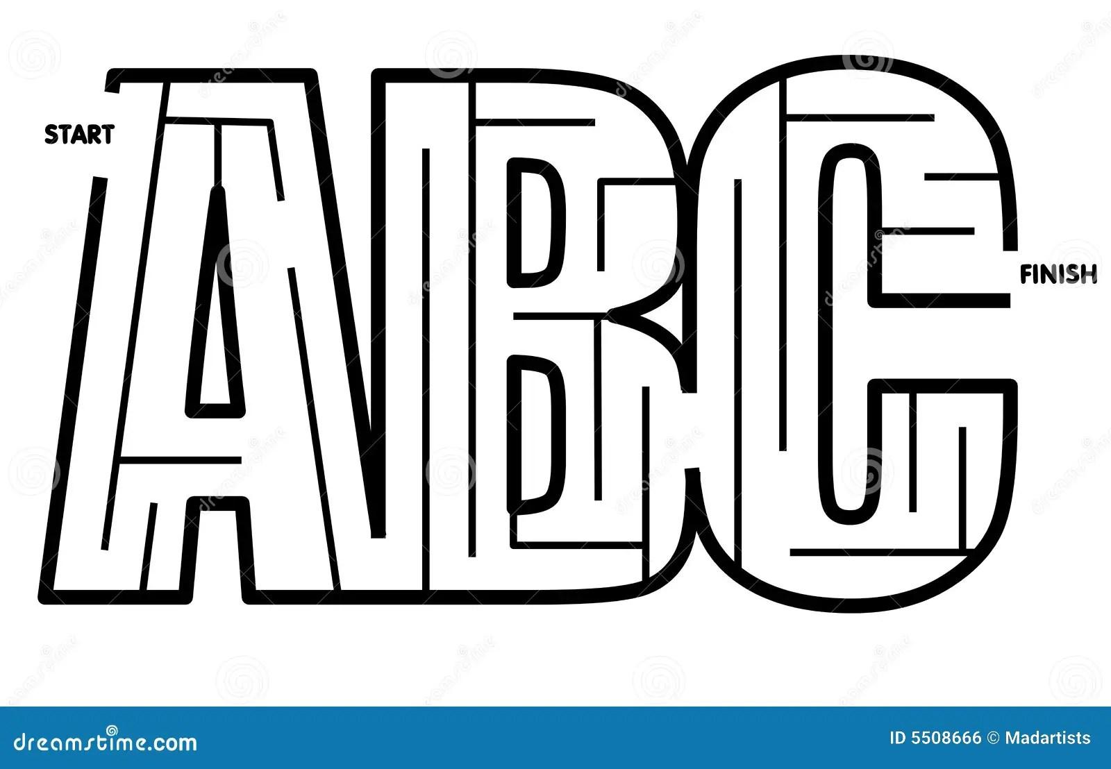 Facile Risolvere Il Labirinto Di Abc Immagine Stock Libera
