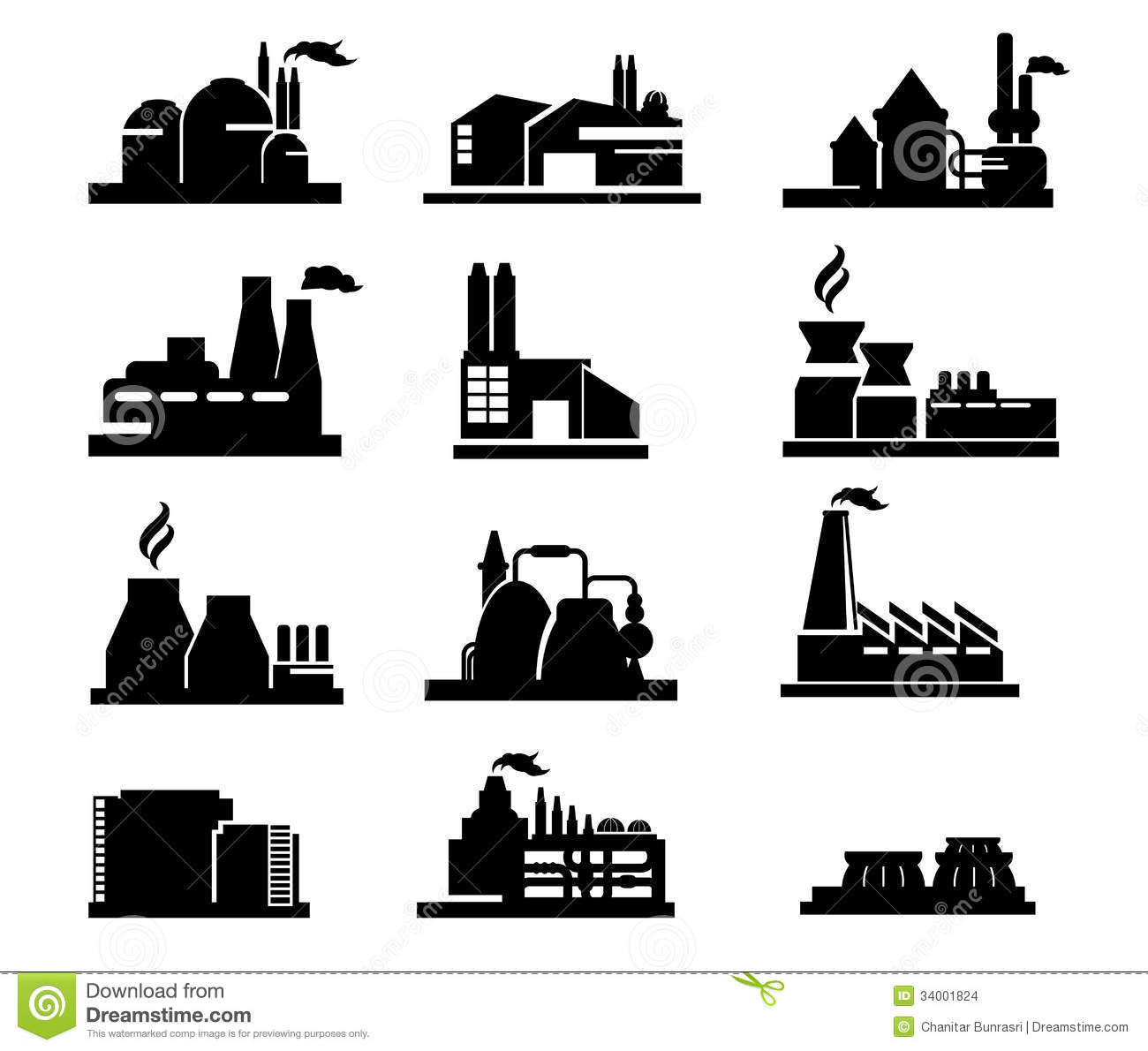 Factory Icon Stock Vector Illustration Of Clip Icon