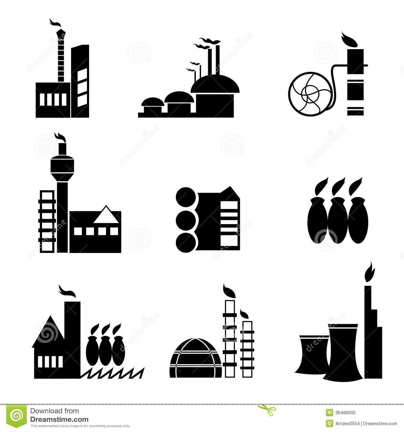 Factory Icon Vector Stock Photo