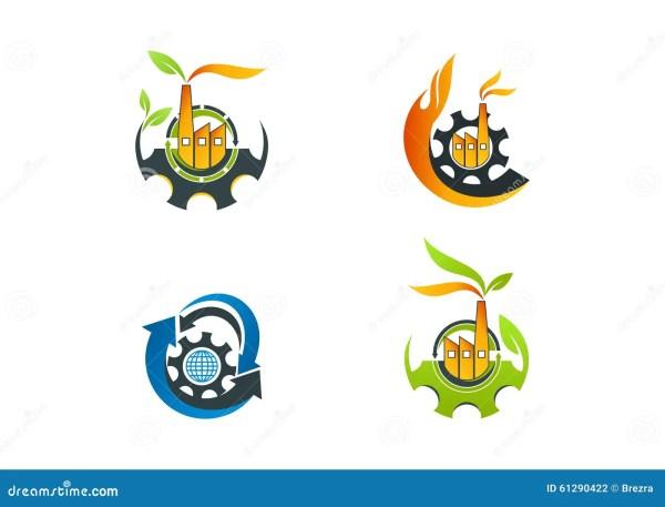 Factory Logo Leaf Machine Manufacture Symbol Arrow