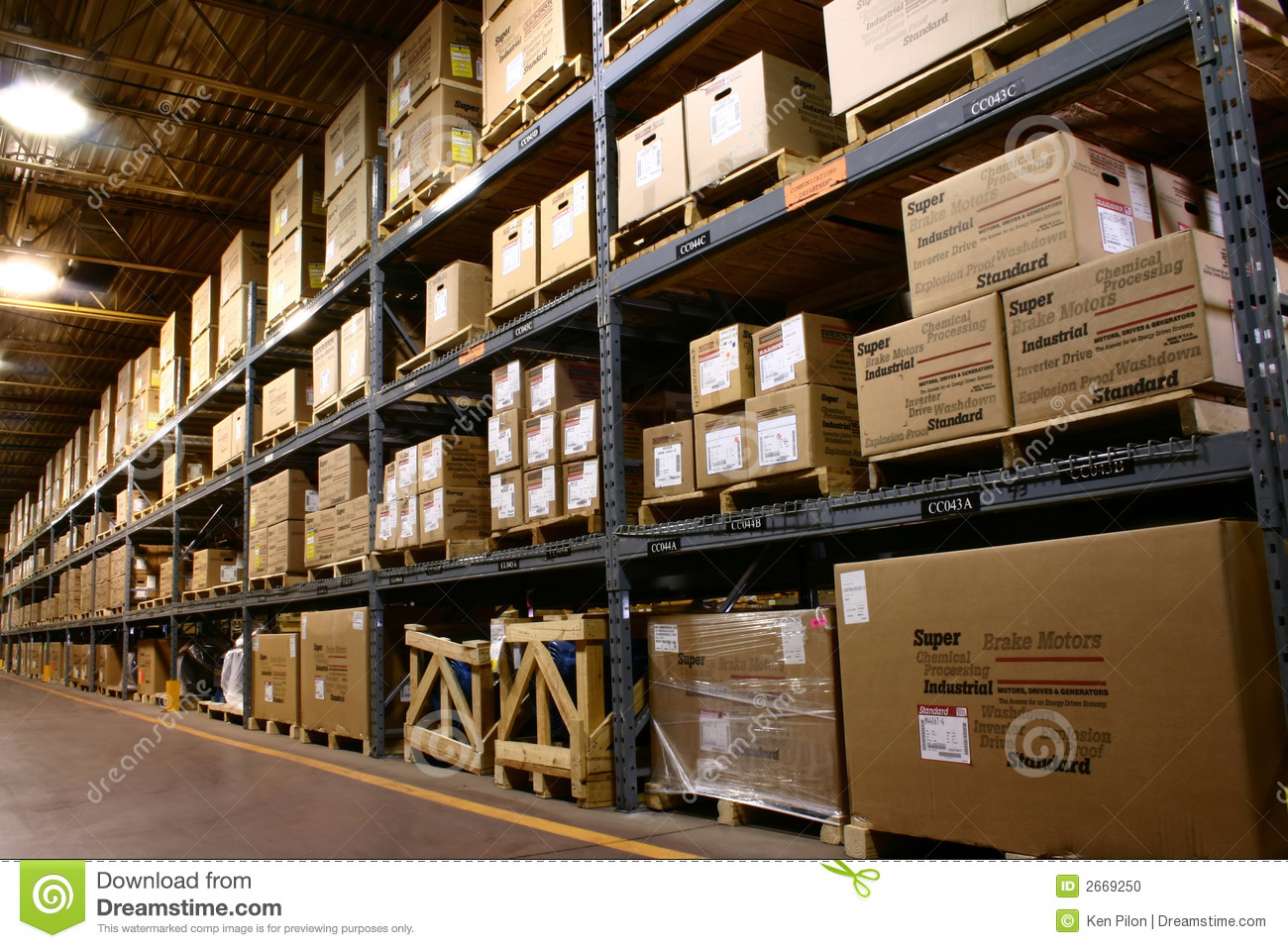 Factory Warehouse Stock Photo  Image 2669250