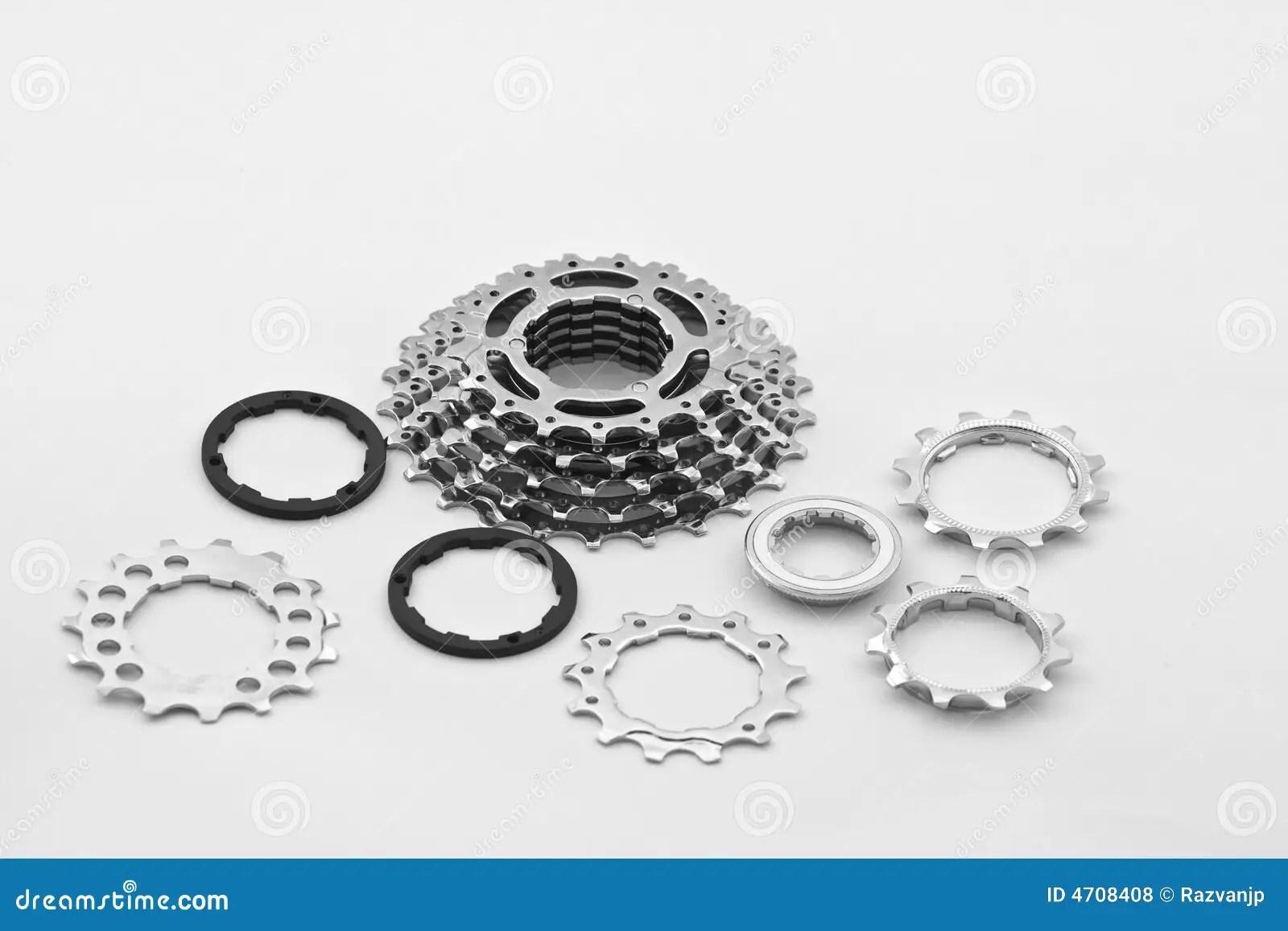 Fahrradgangteile stockfoto. Bild von technologie, teile
