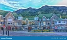 Fairmont Banff Springs Hotel Alberta Canada Editorial