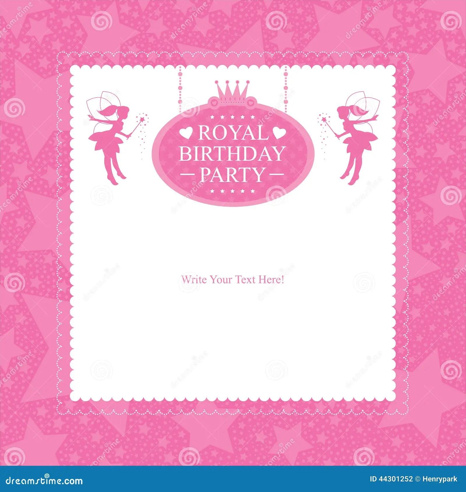 Fairy Birthday Card Invitation Stock Vector Image 44301252